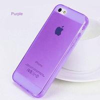 Чехол-накладка на Apple iPhone 5/5S, силикон, глянцевый, фиолетовый