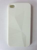Чехол-накладка на Apple iPhone 4/4S, силикон, абстракция, белый