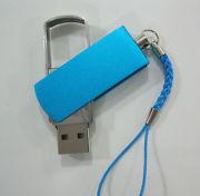Память USB 2.0 Flash, брелок, синий, 8 Gb