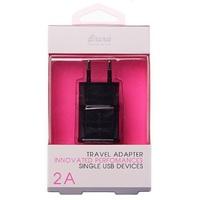 Сетевое зарядное устройство USB, Brera TAU5, 2.1A, 1xUSB, черный