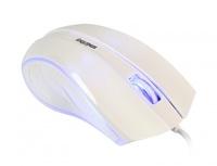 Мышь проводная, Smart Buy 338, оптическая, 3кн, подсветка, белый