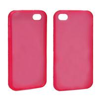 Чехол-накладка на Apple iPhone 4/4S, силикон, матовый, красный