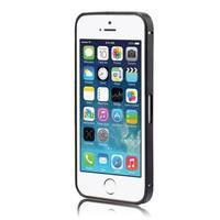 Бампер на Apple iPhone 5/5S, алюминий, черный