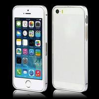 Бампер на Apple iPhone 5/5S, алюминий, серебристый