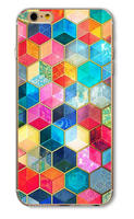 Чехол-накладка на Apple iPhone 5/5S, пластик, symmetry 8