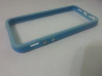 Бампер на Apple iPhone 5/5S, силикон, пластик, голубой