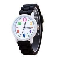 Часы наручные Noname, ц.белый, р.черный, силикон