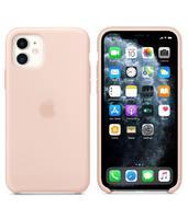 Чехол-накладка на Apple iPhone 11, original design, микрофибра, с лого, бледно-розовый