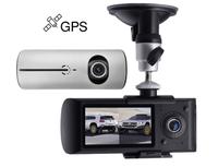 """Видеорегистратор с салонной камерой Podofo R300, HD, 2.7"""", GPS, серебристый"""