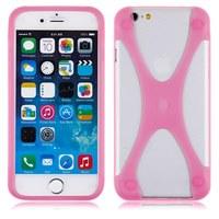 Бампер на Apple iPhone 5/5S, силикон, X, розовый