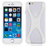Бампер на Apple iPhone 5/5S, силикон, X, белый