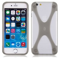 Бампер на Apple iPhone 5/5S, силикон, X, черный
