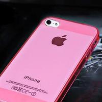 Чехол-накладка на Apple iPhone 4/4S, силикон, глянцевый, прозрачный, розовый