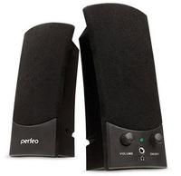 Активные колонки 2.0, Perfeo Uno (PF-210), 2x1.5W, черный
