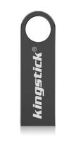 Память USB 2.0 Flash, 8GB, KingStick, металл, style 3, черный
