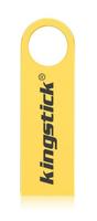 Память USB 2.0 Flash, 8GB, KingStick, металл, style 3, золотистый