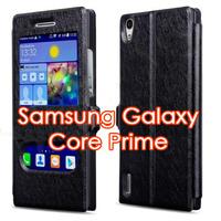 Чехол-книжка на Samsung Core Prime (G360) полиуретан, S-view, черный