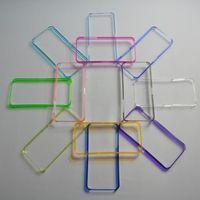 Бампер на Apple iPhone 5/5S, пластик, серый
