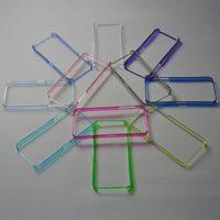 Бампер на Apple iPhone 5/5S, пластик, фиолетовый