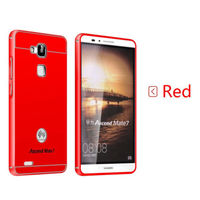Чехол-накладка для Huawei Ascend Mate 7 плаcтик, алюминий,  красный