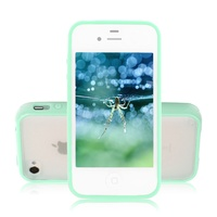 Чехол-накладка на Apple iPhone 4/4S, силикон, пластик, бампер, зеленый