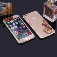 Цветное защитное стекло для Apple iPhone 6/6S комплект, розовый
