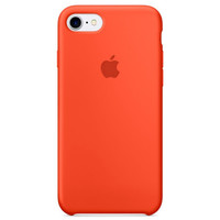 Чехол-накладка на Apple iPhone XS Max, original design, микрофибра, с лого, оранжевый