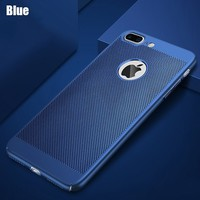 Чехол-накладка на Apple iPhone 5/5S, пластик, перфорация, синий