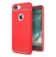 Чехол-накладка на Apple iPhone 5/5S, силикон, противоударный, матовый, DREAMYSOW, красный