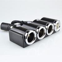 Разветвитель автоприкуривателя OLESSON 1503 (3 выхода + 2 USB)