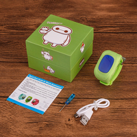 Смарт-часы Q50, детские, Sim, LCD, GPRS, LBS, зеленый