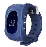Смарт-часы Q50, детские, Sim, LCD, GPRS, LBS, синий