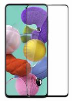 Защитное стекло Samsung Galaxy A71/M51 на дисплей, с рамкой, 4D, черный