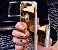 Чехол-накладка на Apple iPhone 4/4S, силикон, зеркальный, золотистый