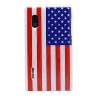 Чехол-накладка LG Optimus L5 (E610, E612), пластик, US flag