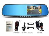 """Видеорегистратор зеркало с камерой заднего вида JanSite V50, FHD, 4.3"""""""