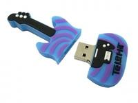 Память USB 2.0 Flash, гитара, синий, 16 Gb