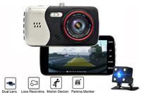 """Видеорегистратор с камерой заднего вида Podofo PDM03, FHD, 4.0"""", HDMI"""