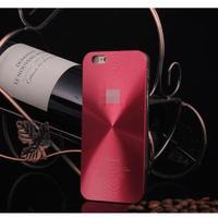 Чехол-накладка на Apple iPhone 6/6S, пластик, алюминий, CD, красный