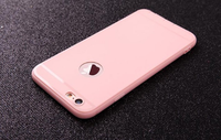 Чехол-накладка на Apple iPhone X/Xs, силикон, с вырез., матовый, розовый