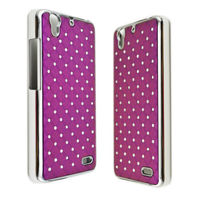 Чехол-накладка для Huawei G630 пластик, стразы, фиолетовый