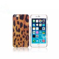 Чехол-накладка на Apple iPhone 6/6S, пластик, leopard, оранжевый