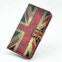 Чехол-книжка на Sony Xperia L полиуретан, brit flag