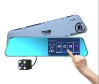 """Видеорегистратор зеркало с камерой заднего вида TDS TS-CAR46, FHD, IPS 5.18"""" сенсор"""