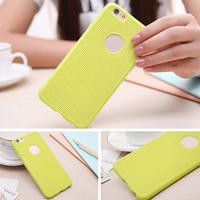 Чехол-накладка на Apple iPhone 5/5S, силикон, сетка, зеленый