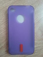 Чехол-накладка на Apple iPhone 4/4S, силикон, red, фиолетовый