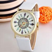 Часы наручные Noname, ц.цветной, р.белый, кожа Д02318