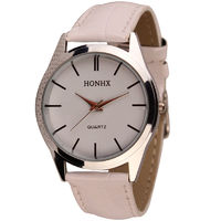 Часы наручные HongC, ц.белый, р.белый, кожа