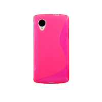 Чехол- накладка LG Google Nexus 5, силикон, розовый