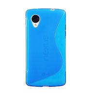 Чехол- накладка LG Google Nexus 5, силикон, синий